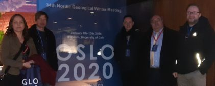 ENeRAG project participants at the Nordic Geological Winter Meeting
