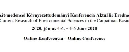 Participation and success in the Current Research of Environmental Sciences in the Carpathian Basin online conference